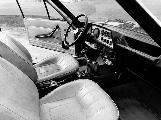 интерьер Fiat 124 Sport Coupe