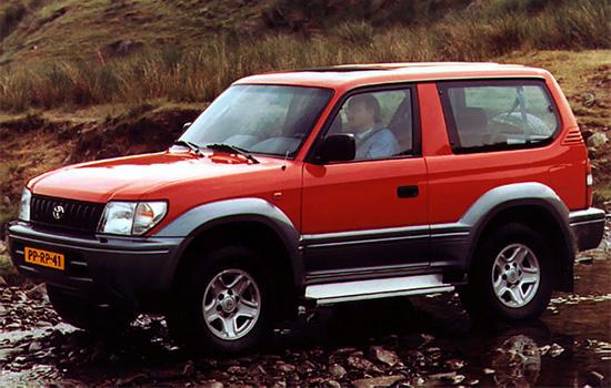трехдверный Toyota Land Cruiser Prado 1996-1999 годов