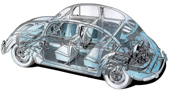 конструкция VW Typ 1 1938 года