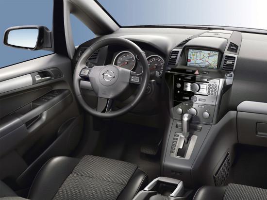 интерьер салона Opel Zafira 2-го поколения