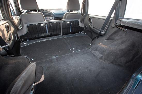 багажное отделение Chevrolet Niva