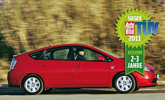 toyota prius - лидер рейтинга надёжности автомобилей tuv 2011