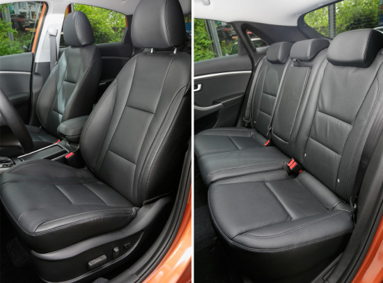 в салоне хэтчбека Hyundai i30 GD 2015