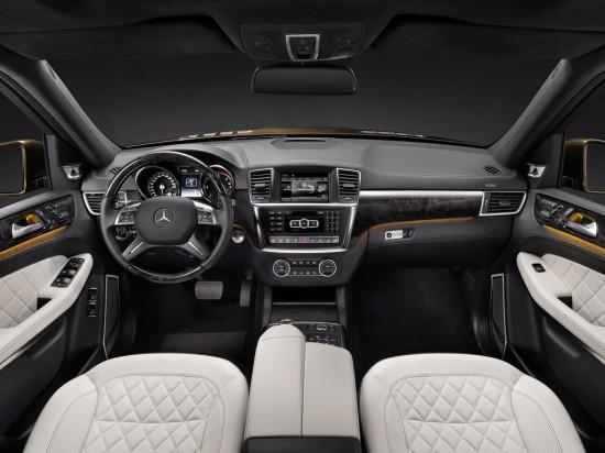 интерьер салона Mercedes GL 2012-2015