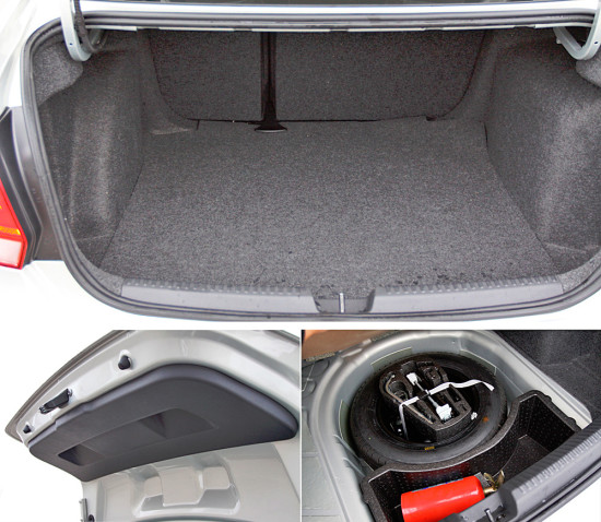 багажное отделение VW Polo Sedan