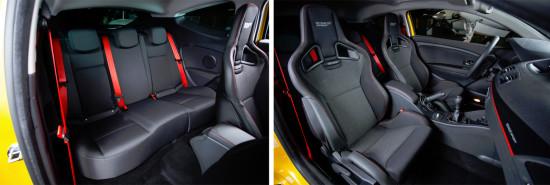 интерьер салона Renault Megane 3 RS