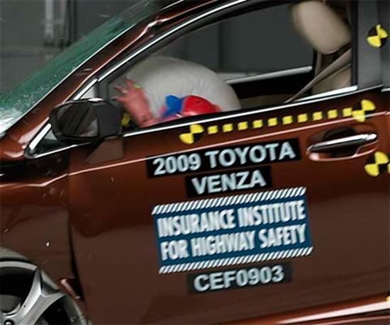 Краш-тест Toyota Venza (IIHS)