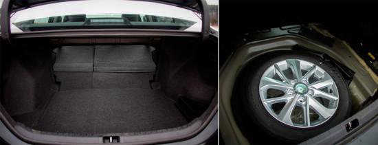 багажный отсек седана Corolla 11-го поколения