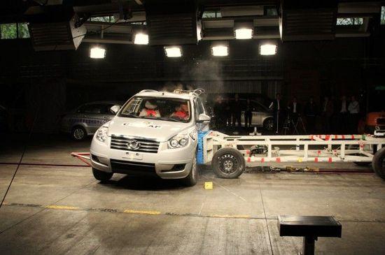 краш-тест Emgrand X7 (C-NCAP)