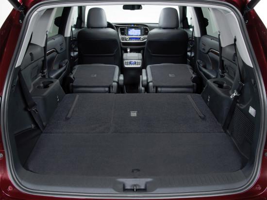 багажное отделение Тойоты Хайлендер 3