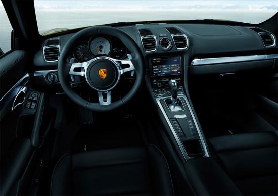 интерьер салона Porsche Cayman 2