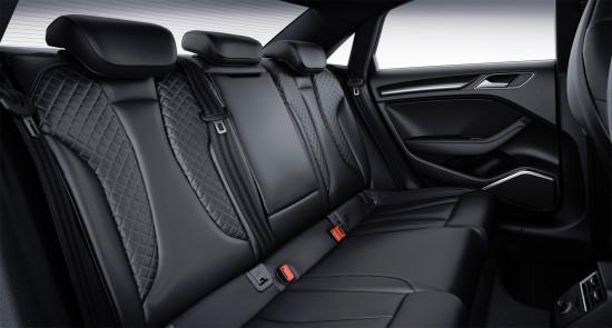 задний диван в трёхобъёмнике Ауди S3 3-поколения
