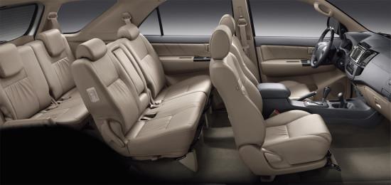 интерьер салона Toyota Fortuner 1-го поколения
