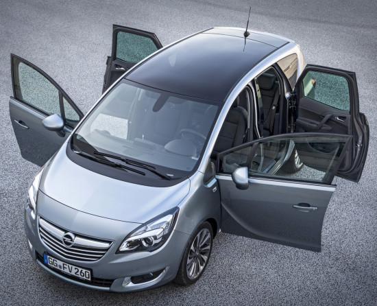 открывание дверей в Opel Meriva B