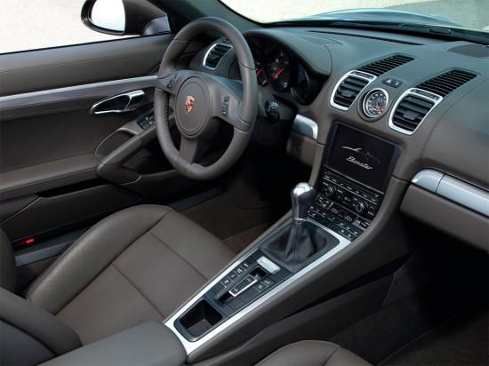 в салоне Porsche Boxster 981