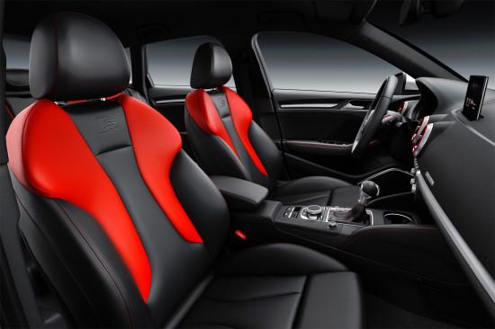 интерьер салона Audi S3 Sportback 8V (передние кресла)
