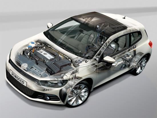 основные узлы и агрегаты Volkswagen Scirocco 3