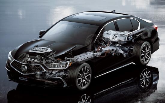 размещение основных узлов и агрегатов Honda Legend V