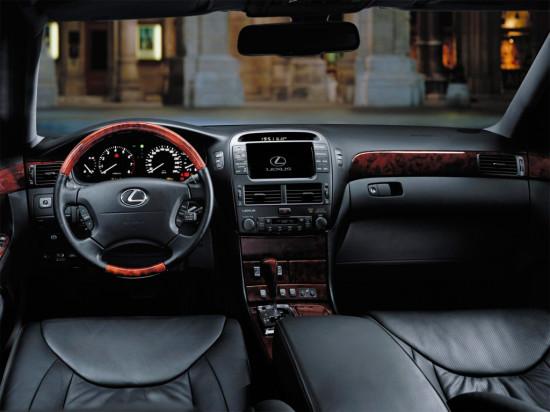 интерьер салона Lexus LS XF30 (2000-2006)