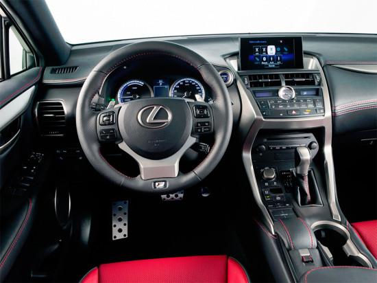 интерьер салона Lexus NX 300h F SPORT
