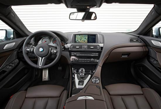 интерьер BMW M6 Gran Coupe (F06)
