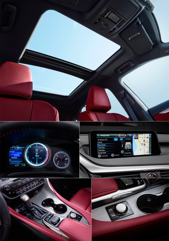 элементы управления Lexus RX350 2016
