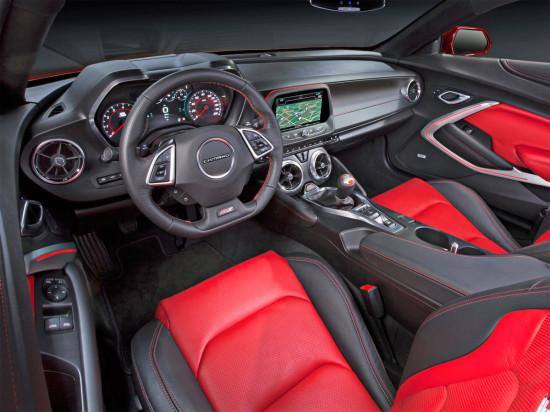 интерьер салона Camaro 6-го поколения