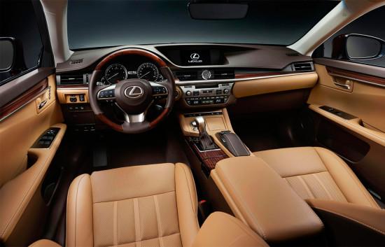 интерьер салона Lexus ES 2015