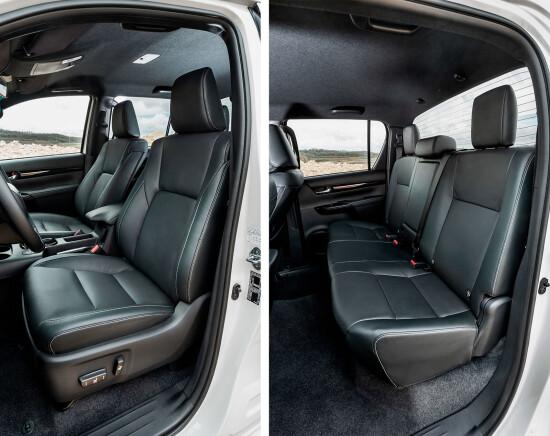передние кресла и задний пассажирский диван