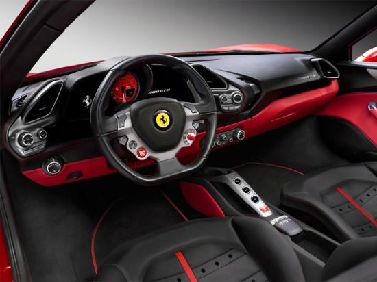 интерьер салона Феррари 488 GTB