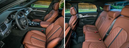 интерьер салона Audi S8 3-го поколения