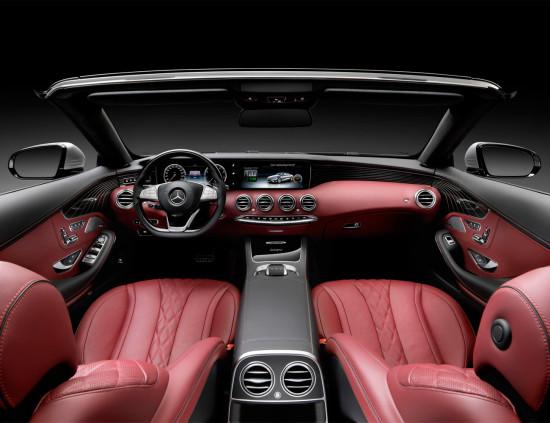 интерьер салона Mercedes S-класс Cabriolet 222