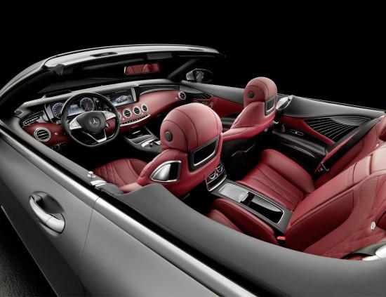 второй ряд сидений S-class Cabriolet 222