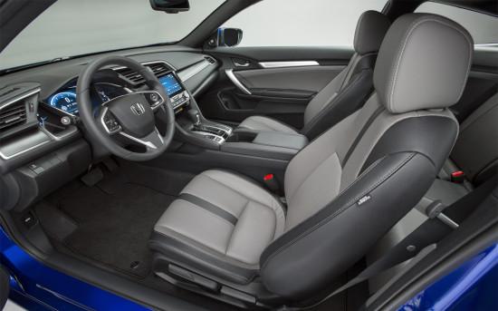 передние места Civic Coupe