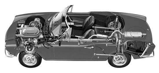 компоновка Fiat 124 Sport Spider