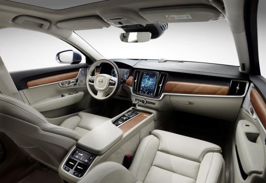 интерьер Volvo S90 2-го поколения