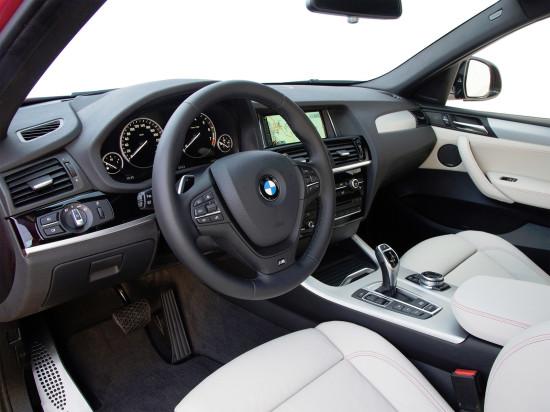 интерьер салона BMW X4 M Sport