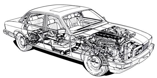 конструкция Jaguar XJ40