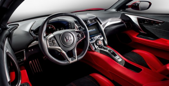 приборная панель Honda NSX 2017 и центральная консоль