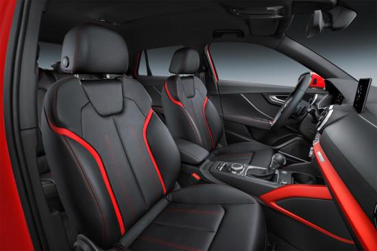 в салона Audi Q2 S Line (передние кресла)