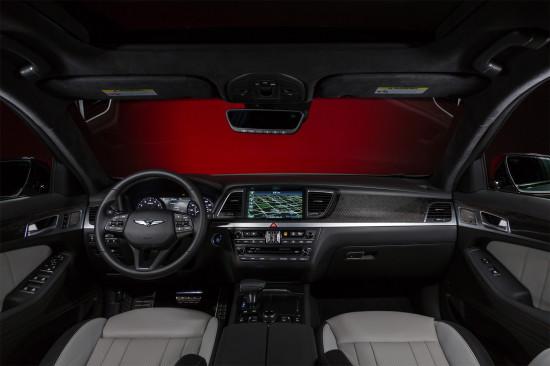 интерьер Genesis G80 Sport