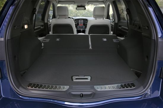 багажное отделение Рено Колеоса 2-го поколения
