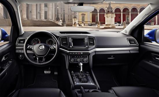 приборная панель и центральная консоль VW New Amarok V6