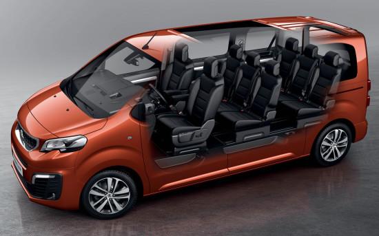 компоновка салона Peugeot Traveller