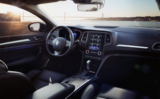 интерьер салона седана Мегана IV-го поколения