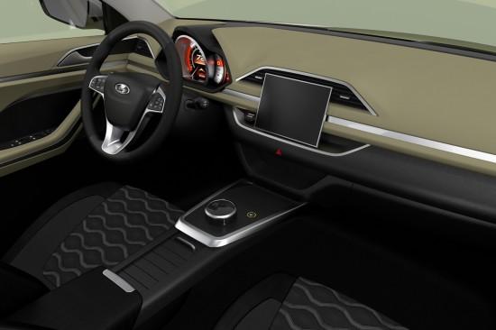 рисунок интерьера Lada XCODE от дизайнеров АвтоВАЗ