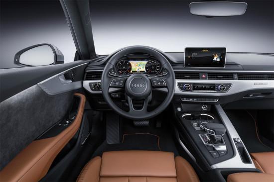 интерьер салона купе Ауди А5 2-го поколения