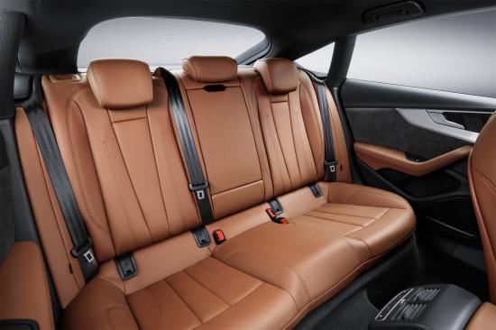 в салоне Audi A5 Sportback 2017 модельного года