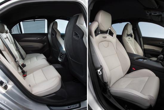интерьер салона Cadillac CTS-V 3-го поколения
