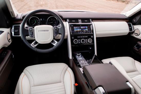 передняя панель и центральная консоль Land Rover Discovery 5